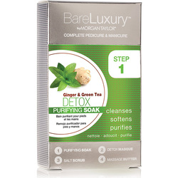 BareLuxury 4-Step Complete Pedicure & Manicure - DETOX - GINGER & GREEN TEA - 4 PACK (51319)
