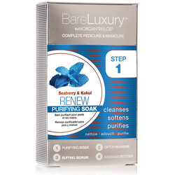 BareLuxury 4-Step Complete Pedicure & Manicure - RENEW - SEABERRY & KUKUI - 4 PACK (51317)