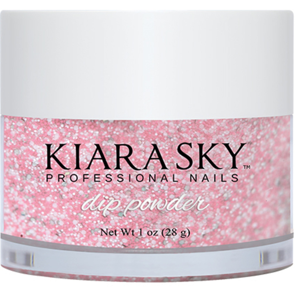 Kiara Sky Dip Powder - PINKING OF SPARKLE (GLITTER) - D496 1 oz. (D496)