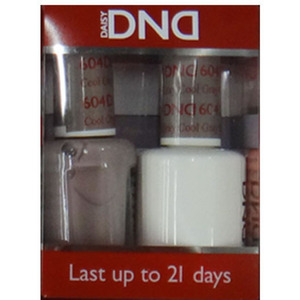 DND Duo GEL Pack - Diva Collection - COOL GRAY 1 Gel Polish 0.47 oz. + 1 Lacquer 0.47 oz. in Matching Color (DND-G604)