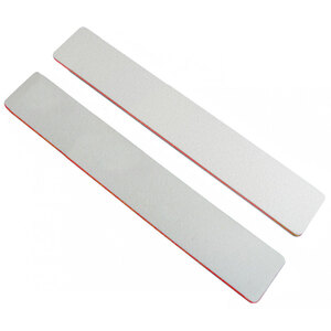 "Washable Jumbo WhiteRed Cushioned Nail Files - 7""L x 1-18""W - Grit 100100 - 50 Pack ()"