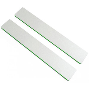 "Washable Jumbo WhiteGreen Cushioned Nail Files - 7""L x 1-18""W - Grit 80100 - 50 Pack ()"