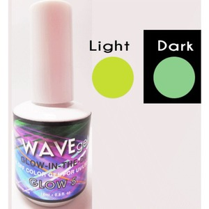 WaveGel Glow in the Dark Soak Off Gel Polish - GLOW 5 0.5 oz. ()