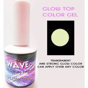 WaveGel Glow in the Dark Soak Off Gel Polish - GLOW TOP COLOR GEL 0.5 oz. ()