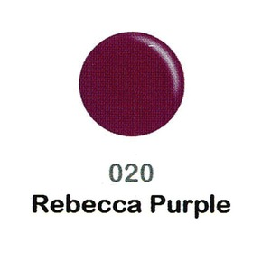 DND Duo Gel Pack - DC Collection - REBECCA PURPLE - #020 1 Gel Polish 0.47 oz. + 1 Lacquer 0.47 oz. in Matching Color (DND-DC-020)