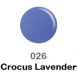 DND Duo Gel Pack - DC Collection - CROCUS LAVENDER - #026 1 Gel Polish 0.47 oz. + 1 Lacquer 0.47 oz. in Matching Color (DND-DC-026)