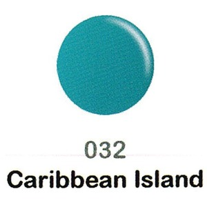 DND Duo Gel Pack - DC Collection - CARIBBEAN ISLAND - #032 1 Gel Polish 0.47 oz. + 1 Lacquer 0.47 oz. in Matching Color (DND-DC-032)