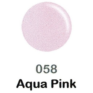 DND Duo Gel Pack - DC Collection - AQUA PINK - #058 1 Gel Polish 0.47 oz. + 1 Lacquer 0.47 oz. in Matching Color (DND-DC-058)