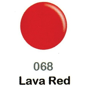 DND Duo Gel Pack - DC Collection - LAVA RED - #068 1 Gel Polish 0.47 oz. + 1 Lacquer 0.47 oz. in Matching Color (DND-DC-068)