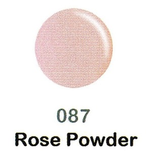 DND Duo Gel Pack - DC Collection - ROSE POWDER - #087 1 Gel Polish 0.47 oz. + 1 Lacquer 0.47 oz. in Matching Color (DND-DC-087)