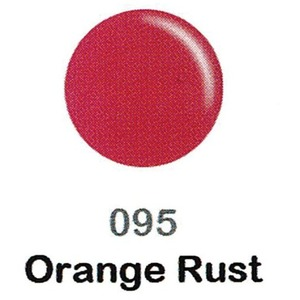 DND Duo Gel Pack - DC Collection - ORANGE RUST - #095 1 Gel Polish 0.47 oz. + 1 Lacquer 0.47 oz. in Matching Color (DND-DC-095)