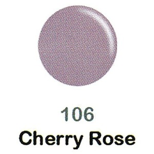 DND Duo Gel Pack - DC Collection - CHERRY ROSE - #106 1 Gel Polish 0.47 oz. + 1 Lacquer 0.47 oz. in Matching Color (DND-DC-106)