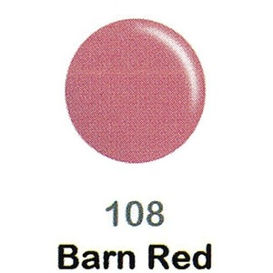 DND Duo Gel Pack - DC Collection - BARN RED - #108 1 Gel Polish 0.47 oz. + 1 Lacquer 0.47 oz. in Matching Color (DND-DC-108)