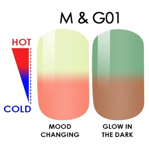 WaveGel MOOD Glow in the Dark Soak Off Gel Polish - #M & G01 0.5 oz. (mood-glow1)