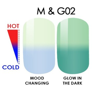 WaveGel MOOD Glow in the Dark Soak Off Gel Polish - #M & G02 0.5 oz. (mood-glow2)