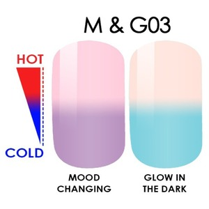 WaveGel MOOD Glow in the Dark Soak Off Gel Polish - #M & G03 0.5 oz. (mood-glow3)