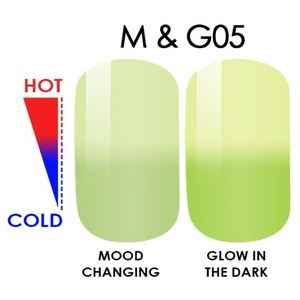 WaveGel MOOD Glow in the Dark Soak Off Gel Polish - #M & G05 0.5 oz. (mood-glow5)