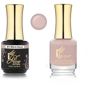 iGel Matched Set B Collection - 1 iGel Impecable Soaked-off Gel Polish 0.5 oz. + 1 iLacquer Matching Nail Lacquer Color 0.5 oz. - WARM SAND #B01 (20096-B01)