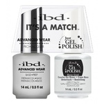 IBD It's a Match Duo - BASE COAT - #65463 a Matching Set - (1) Advanced Wear Pro Lacquer 0.5 oz. + (1) Just Gel Polish 0.5 oz. (24432)
