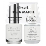 IBD It's a Match Duo - WHIPPED CREAM - #65467 a Matching Set - (1) Advanced Wear Pro Lacquer 0.5 oz. + (1) Just Gel Polish 0.5 oz. (24436)