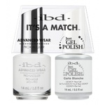 IBD It's a Match Duo - CARTE BLANCHE - #65468 a Matching Set - (1) Advanced Wear Pro Lacquer 0.5 oz. + (1) Just Gel Polish 0.5 oz. (24437)