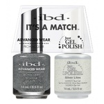 IBD It's a Match Duo - SILVER LITES - #65469 a Matching Set - (1) Advanced Wear Pro Lacquer 0.5 oz. + (1) Just Gel Polish 0.5 oz. (24438)