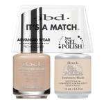 IBD It's a Match Duo - CASHMERE BLUSH - #65472 a Matching Set - (1) Advanced Wear Pro Lacquer 0.5 oz. + (1) Just Gel Polish 0.5 oz. (24440)