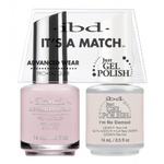 IBD It's a Match Duo - I'M NO DAMSEL - #65476 a Matching Set - (1) Advanced Wear Pro Lacquer 0.5 oz. + (1) Just Gel Polish 0.5 oz. (24444)