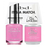 IBD It's a Match Duo - TICKLED PINK - #65488 a Matching Set - (1) Advanced Wear Pro Lacquer 0.5 oz. + (1) Just Gel Polish 0.5 oz. (24453)