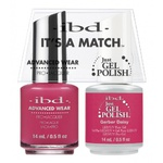 IBD It's a Match Duo - GERBER DAISY - #65489 a Matching Set - (1) Advanced Wear Pro Lacquer 0.5 oz. + (1) Just Gel Polish 0.5 oz. (24454)