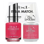IBD It's a Match Duo - INGÉNUE - #65491 a Matching Set - (1) Advanced Wear Pro Lacquer 0.5 oz. + (1) Just Gel Polish 0.5 oz. (24455)