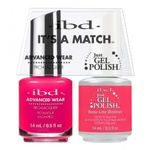 IBD It's a Match Duo - ROSE LITE DISTRICT - #65493 a Matching Set - (1) Advanced Wear Pro Lacquer 0.5 oz. + (1) Just Gel Polish 0.5 oz. (24457)