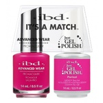IBD It's a Match Duo - PARISOL - #65494 a Matching Set - (1) Advanced Wear Pro Lacquer 0.5 oz. + (1) Just Gel Polish 0.5 oz. (24458)