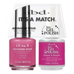 IBD It's a Match Duo - VESPAS & SIESTAS - #65495 a Matching Set - (1) Advanced Wear Pro Lacquer 0.5 oz. + (1) Just Gel Polish 0.5 oz. (24459)
