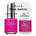 IBD It's a Match Duo - FROZEN STRAWBERRY - #65496 a Matching Set - (1) Advanced Wear Pro Lacquer 0.5 oz. + (1) Just Gel Polish 0.5 oz. (24460)
