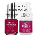 IBD It's a Match Duo - ALL HEART - #65499 a Matching Set - (1) Advanced Wear Pro Lacquer 0.5 oz. + (1) Just Gel Polish 0.5 oz. (24462)