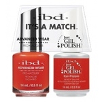 IBD It's a Match Duo - EYE POPPIE - #65506 a Matching Set - (1) Advanced Wear Pro Lacquer 0.5 oz. + (1) Just Gel Polish 0.5 oz. (24468)