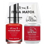 IBD It's a Match Duo - VIXEN ROUGE - #65511 a Matching Set - (1) Advanced Wear Pro Lacquer 0.5 oz. + (1) Just Gel Polish 0.5 oz. (24472)