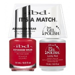 IBD It's a Match Duo - LUCKY RED - #65514 a Matching Set - (1) Advanced Wear Pro Lacquer 0.5 oz. + (1) Just Gel Polish 0.5 oz. (24475)
