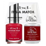 IBD It's a Match Duo - BING CHERRIES - #65516 a Matching Set - (1) Advanced Wear Pro Lacquer 0.5 oz. + (1) Just Gel Polish 0.5 oz. (24477)
