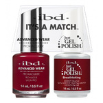 IBD It's a Match Duo - BREATHTAKING - #65519 a Matching Set - (1) Advanced Wear Pro Lacquer 0.5 oz. + (1) Just Gel Polish 0.5 oz. (24480)
