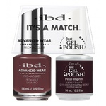 IBD It's a Match Duo - PETAL IMPRINT - #65524 a Matching Set - (1) Advanced Wear Pro Lacquer 0.5 oz. + (1) Just Gel Polish 0.5 oz. (24485)