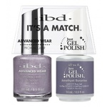 IBD It's a Match Duo - AMETHYST SURPRISE - #65526 a Matching Set - (1) Advanced Wear Pro Lacquer 0.5 oz. + (1) Just Gel Polish 0.5 oz. (24487)