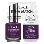 IBD It's a Match Duo - CONFUCHSION - #65531 a Matching Set - (1) Advanced Wear Pro Lacquer 0.5 oz. + (1) Just Gel Polish 0.5 oz. (24492)