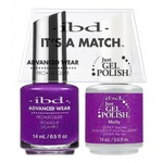 IBD It's a Match Duo - MOLLY - #65532 a Matching Set - (1) Advanced Wear Pro Lacquer 0.5 oz. + (1) Just Gel Polish 0.5 oz. (24493)