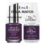 IBD It's a Match Duo - HRH - #65534 a Matching Set - (1) Advanced Wear Pro Lacquer 0.5 oz. + (1) Just Gel Polish 0.5 oz. (24495)