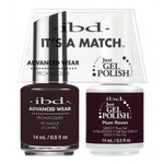 IBD It's a Match Duo - PLUM RAVEN - #65535 a Matching Set - (1) Advanced Wear Pro Lacquer 0.5 oz. + (1) Just Gel Polish 0.5 oz. (24496)