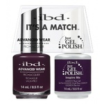 IBD It's a Match Duo - INSPIRE ME - #65537 a Matching Set - (1) Advanced Wear Pro Lacquer 0.5 oz. + (1) Just Gel Polish 0.5 oz. (24498)