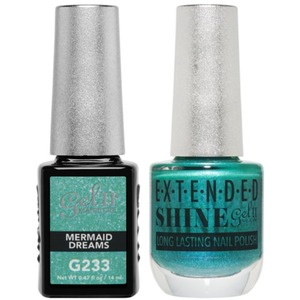 La Palm Gel II No Base Coat Gel Polish + Matching Extended Shine Polish - Seaside Shimmer Collection - MERMAID DREAMS (#G233 - #ES233)