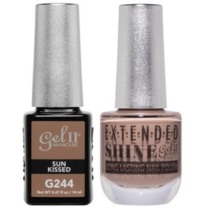 La Palm Gel II No Base Coat Gel Polish + Matching Extended Shine Polish - True Beauty Nude Collection - SUN KISSED (#G244 - #ES244)